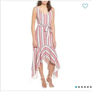 NWT New Nordstrom pink white stripe maxi d…